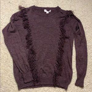 Cute Maroon Fringe Sweater 💕